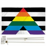 Gay Straight Alliance Pride 3' x 5' Polyester Flag, Pole and Mount
