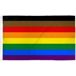 Philly Rainbow Pride 3' x 5' Polyester Flag