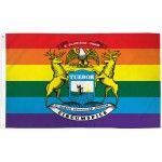 Michigan Rainbow Pride 3' x 5' Polyester Flag