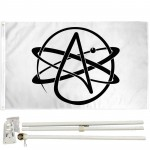 Atheist 3' x 5' Polyester Flag, Pole and Mount