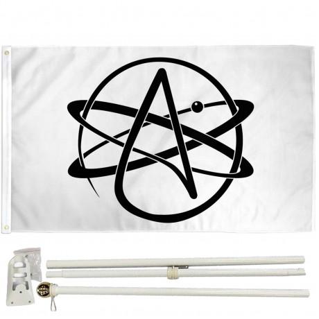 Atheist 3' x 5' Polyester Flag, Pole and Mount