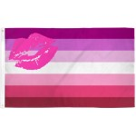 Lipstick Lesbian Pride 3' x 5' Polyester Flag