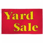 Yard Sale Red 3' x 5' Polyester Flag