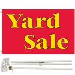 Yard Sale Red 3' x 5' Polyester Flag, Pole and Mount