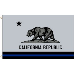 Thin Blue Line California Republic 3' x 5' Polyester Flag