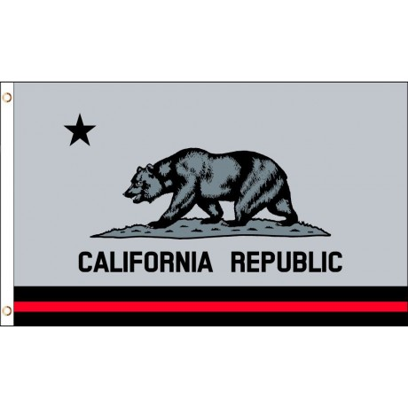 Thin Red Line California Republic 3' x 5' Polyester Flag