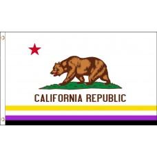 Non-Binary California Republic 3' x 5' Polyester Flag
