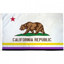 California Republic Non-Binary 3' x 5' Polyester Flag