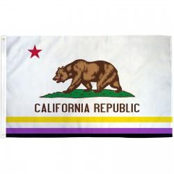California Republic Non-Binary 3' x 5' Polyester Flag