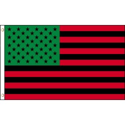 Afro American USA 3' x 5' Polyester Flag