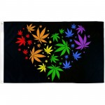Marijuana Love Rainbow 3' x 5' Polyester Flag