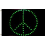 Marijuana Peace Sign 3' x 5' Polyester Flag