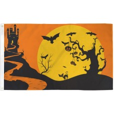Halloween Castle Bats 3' x 5' Polyester Flag