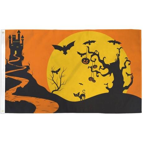 Halloween Castle Bats 3' x 5' Polyester Flag