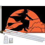Witch Moon 3' x 5' Polyester Flag, Pole and Mount