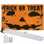 Trick Or Treat Halloween 3' x 5' Polyester Flag, Pole and Mount