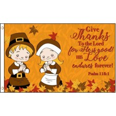 Give Thanks 3' x 5' Polyester Flag
