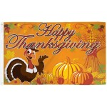 Happy Thanksgiving Turkey 3' x 5' Polyester Flag