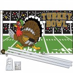 Turkey Bowl Football 3' x 5' Polyester Flag, Pole and Mount