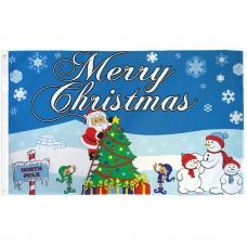 Merry Christmas North Pole 3' x 5' Polyester Flag