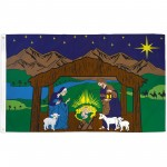Nativity Scene Christmas 3' x 5' Polyester Flag