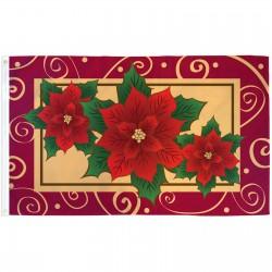Poinsettias Christmas 3' x 5' Polyester Flag