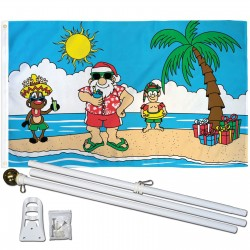 Christmas Island 3' x 5' Polyester Flag, Pole and Mount