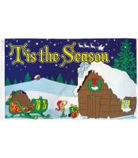 Tis The Season Christmas 3' x 5' Polyester Flag