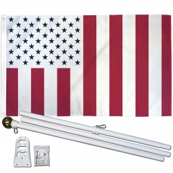 Civil Peace Vertical Stripes 3' x 5' Polyester Flag, Pole and Mount