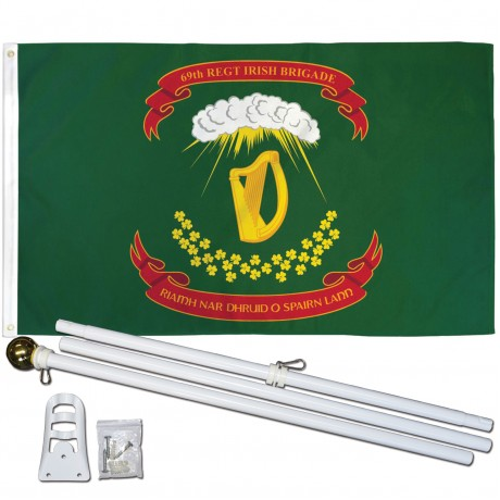 69th Regiment Irish Brigade 3' x 5' Polyester Flag, Pole and Mount
