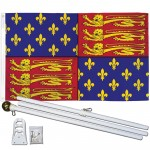 King Edward III 3' x 5' Polyester Flag, Pole and Mount