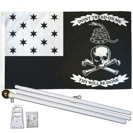 War of 1812 Don't Tread On Me 3' x 5' Polyester Flag, Pole and Mount