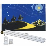 Bethlehem Christmas 3' x 5' Polyester Flag, Pole and Mount