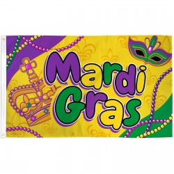 Mardi Gras Beads 3' x 5' Polyester Flag