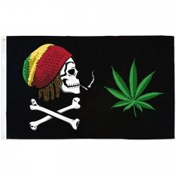 Joint Rasta Crossbones 3' x 5' Polyester Flag