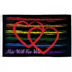 Hate Will Not Win 3' x 5' Polyester Flag