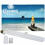 Corona Extra Miles Away 3' x 5' Polyester Flag, Pole and Mount