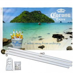 Corona Extra Miles Away Bucket 3' x 5' Polyester Flag, Pole and Mount