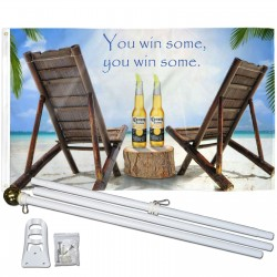 Corona Extra You Win Some 3' x 5' Polyester Flag, Pole and Mount
