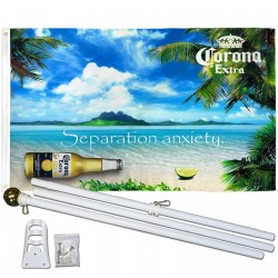 Corona Extra Separation Anxiety 3' x 5' Polyester Flag, Pole and Mount