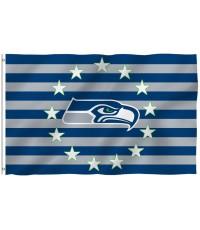 Seattle Seahawks Stars & Stripes 3' x 5' Polyester Flag