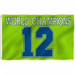 Seattle Seahawks World Champions 12th Man 3' x 5' Polyester Flag