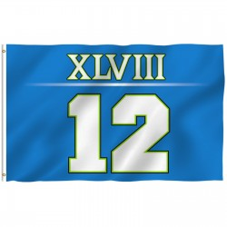 Seattle Seahawks 12th Man Superbowl 48 Champs 3' x 5' Polyester Flag