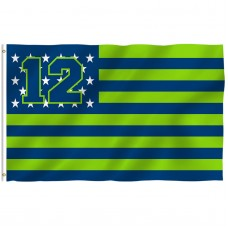 Seattle Seahawks USA Stars & Stripes 3' x 5' Polyester Flag