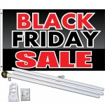 Black Friday Sale 3' x 5' Polyester Flag, Pole and Mount