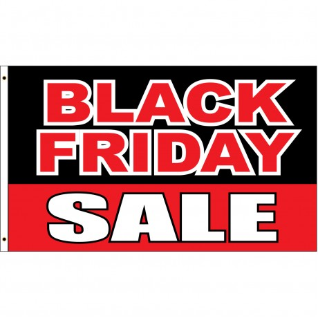 Black Friday Sale Black Red 3' x 5' Polyester Flag