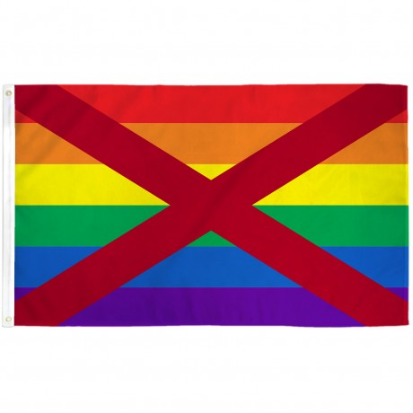 Alabama Rainbow Pride 3 'x 5' Polyester Flag