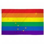 Alaska Rainbow Pride 3 'x 5' Polyester Flag