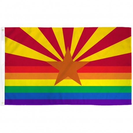 Arizona Rainbow Pride 3 'x 5' Polyester Flag