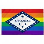 Arkansas Rainbow Pride 3 'x 5' Polyester Flag